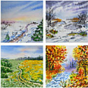 Colors Of Russia Four Seasons Art Print
