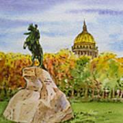Colors Of Russia Monuments Of Saint Petersburg Art Print