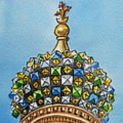 Colors Of Russia St Petersburg Cathedral IIi Art Print by Irina Sztukowski