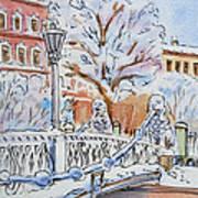 Colors Of Russia Winter In Saint Petersburg Art Print
