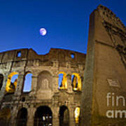 Colosseum And The Moon Art Print