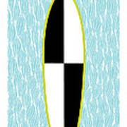 Colour Block Surfboard Art Print