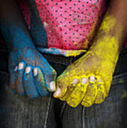 Coloured Hands Art Print by Tim Gainey