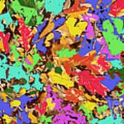 Coloured Oak Leaves By M.l.d. Moerings 2009 Art Print