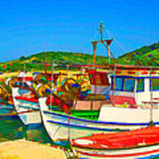 Colourful Boats Art Print