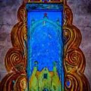Colourful Doorway Art On Adobe House Art Print