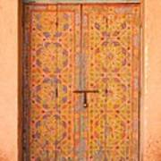 Colourful Entrance Door Sale Rabat Morocco Art Print
