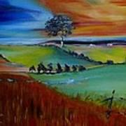Colourful Landscape Art Print