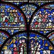 Colourful Stained Glass Window In Art Print by Terence Waeland