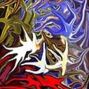 Colours Melting 3 Art Print