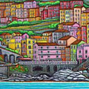 Colours Of Manarola Art Print