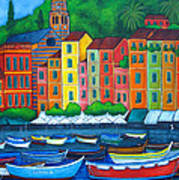 Colours Of Portofino Art Print by Lisa  Lorenz