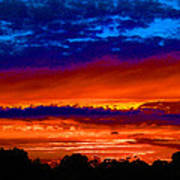Colours Of Sunset Art Print