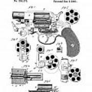 Colt Revolver Patent Art 3  -  1881  Art Print
