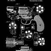 Colt Revolver Patent Art 2  -  1881 Art Print
