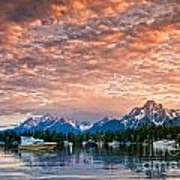 Colter Bay Sunset Art Print