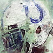 Colts Player Helmet Abstract Art Print