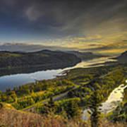 Columbia River Gorge At Sunrise Art Print