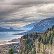 Columbia River Gorge Scenic View In Oregon Art Print
