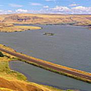 Columbia River In Oregon, Viewed Art Print