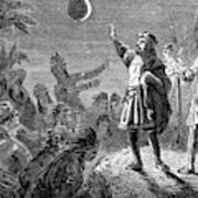 Columbus And The Lunar Eclipse, 1504 Art Print