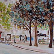 Columbus Circle In New York Art Print