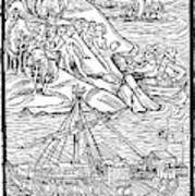 Columbus Hispaniola, 1492 Art Print