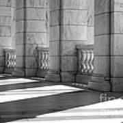 Columns And Shadows Art Print