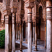 Columns Of The Court Of The Lions Art Print