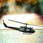 Combat Helicopter Art Print