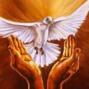 Come Holy Spirit Art Print by Carole Powell