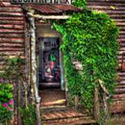 Sharecroppers Country Market Come Right In Art Print by Reid Callaway