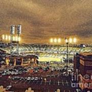 Comerica Night Game 2 Art Print