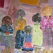 Comfort In Friends Art Print