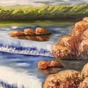 Comfort Waterfall Art Print
