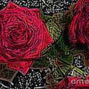 Comic Book Roses Art Print