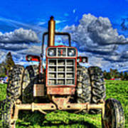 Coming Out Of A Heavy Action Tractor Art Print