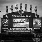 Comiskey Park U.s. Cellular Field Scoreboard In Chicago Art Print
