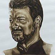 commander William Riker Star Trek TNG Art Print