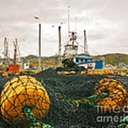 Commercial Fishing In The North Atlantic Art Print