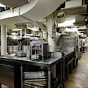 Commercial Kitchen Aboard Battleship Art Print