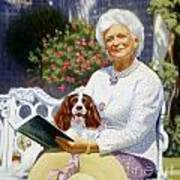 Companions In The Garden Art Print