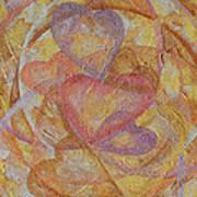 Compassion 7 Hearts Art Print