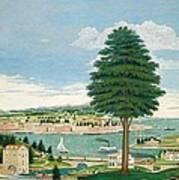 Composite Harbor Scene With Castle Art Print