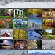 Composite Of Photographs From Various Art Print