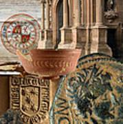Composition For Poster Xiv Jornadas De Estudios Calagurritanos Art Print