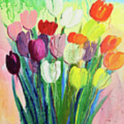 Composition Of Flowers Art Print