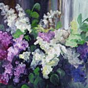 Composition Of Lilac Art Print