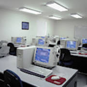 Computer Lab, C1990 Art Print