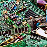 Computer Parts Art Print by Olivier Le Queinec